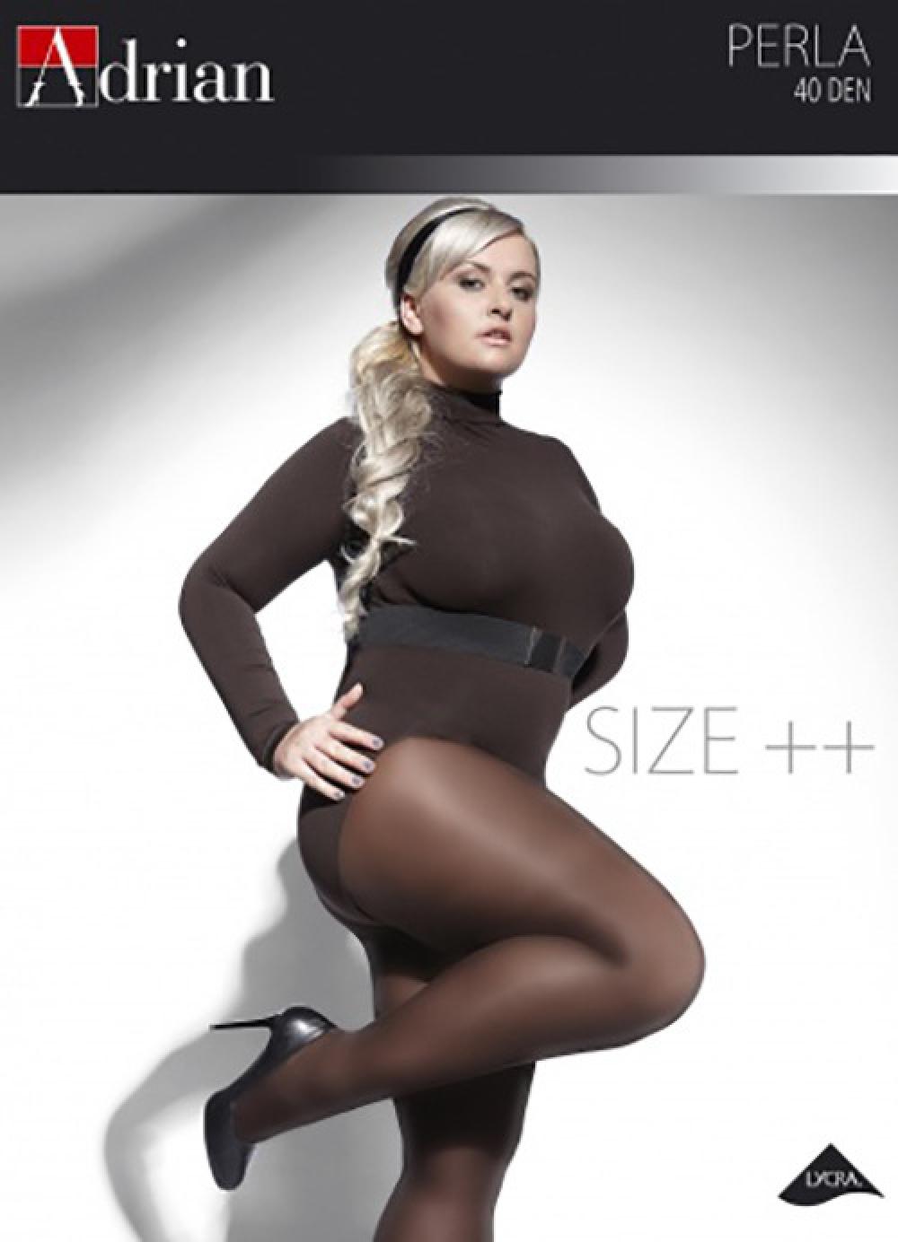 Plus Size Tights Adrian Perla Semi Opaque, 40 Denier Sizes