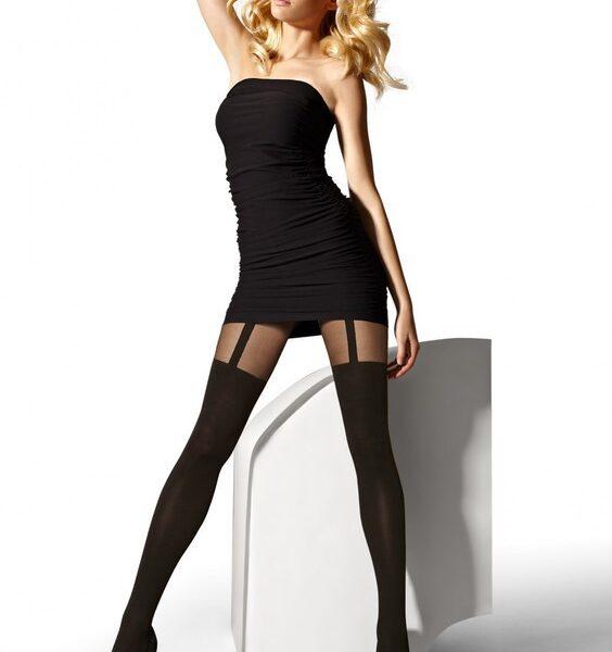 "Mock Suspender Stockings-Tights By Gatta ""GIRL_UP"" 40/20 Denier"