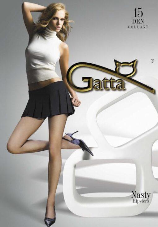 """Gatta """"NASTY"""" 15 Denier ,Sheer Hipster Tights"""