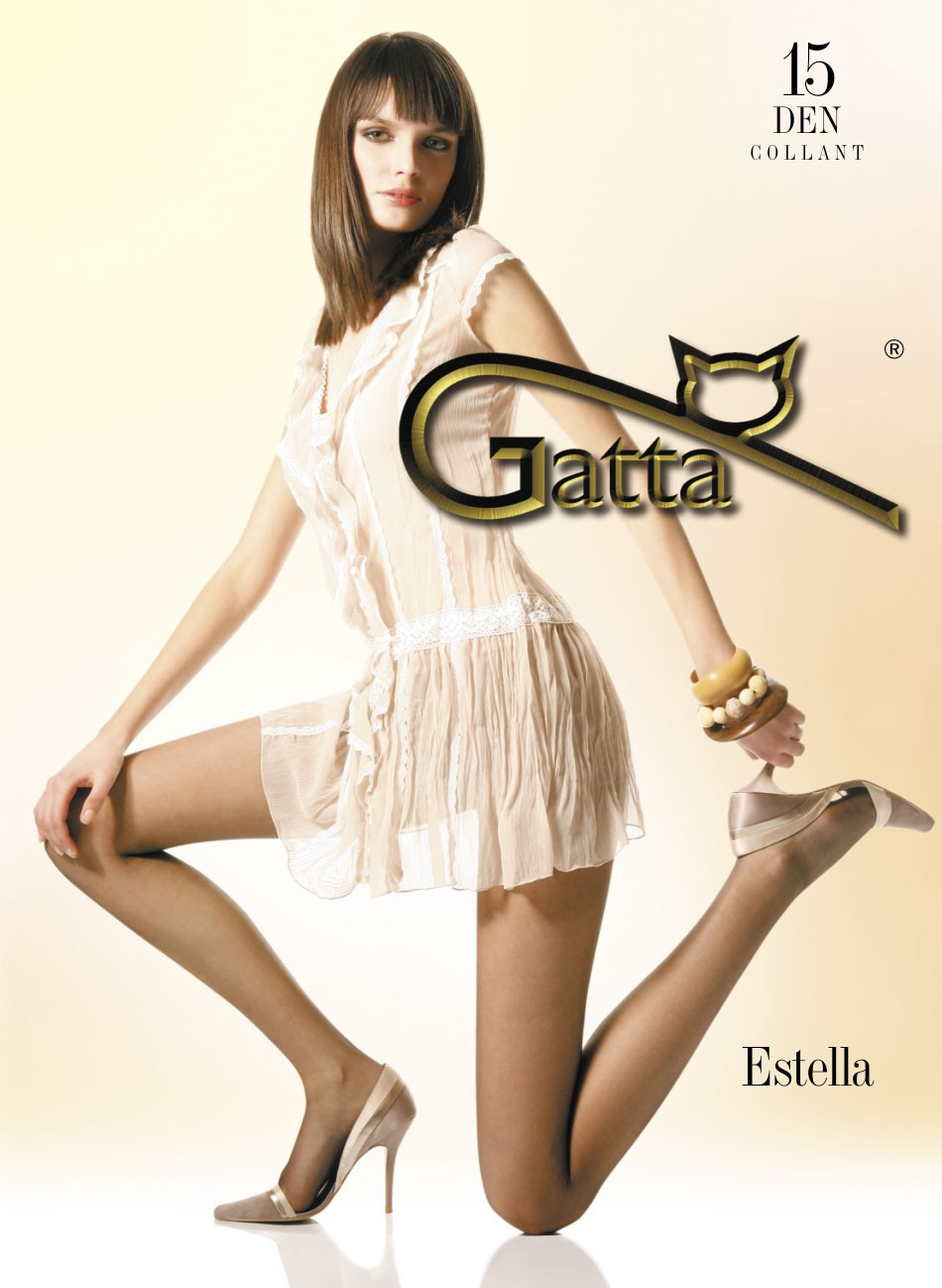 "Gatta ""ESTELLA"" 15 Denier T-Band, Classic Tights ,Semi-Mat"