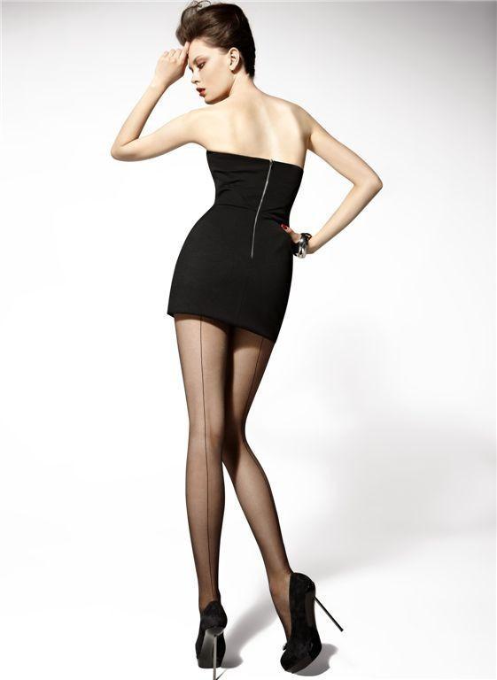 "Sexy Tights Cuban Heel With Back Seam - Gatta ""CHIARA"" 20 Denier"