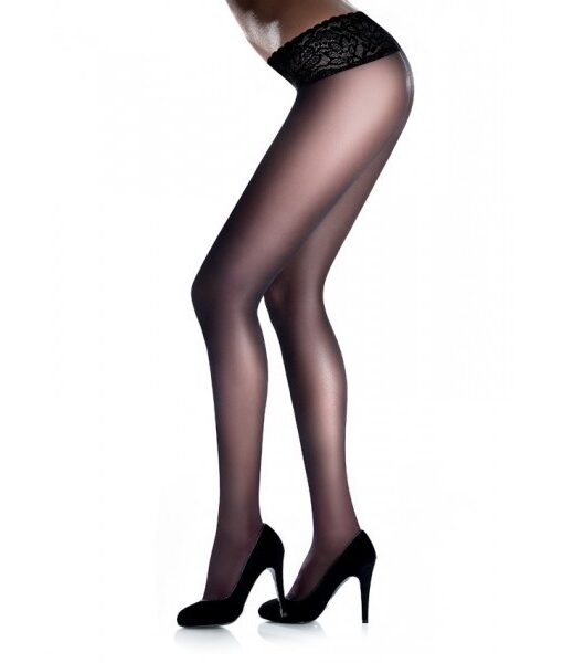 High Quality Sexy Low Line Hipster Tights With Fancy Lace, Marilyn Erotic Vita Bassa