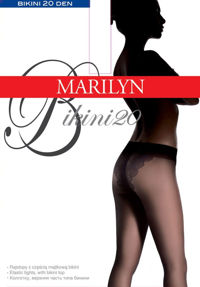 "Classic Sheer Bikin Brief Tights 20 Denier By  Marilyn – ""BIKINI 20"""