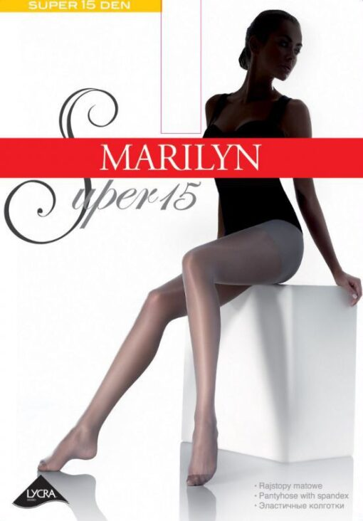 High Quality Classic Transparent Lycra Tights, 15 Den, Marilyn Super 15
