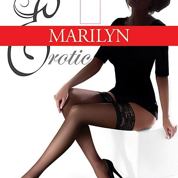"""Exclusive Hold-ups by Marilyn """"EROTIC"""" -15 Denier - 10cm Deep Lace Top"""