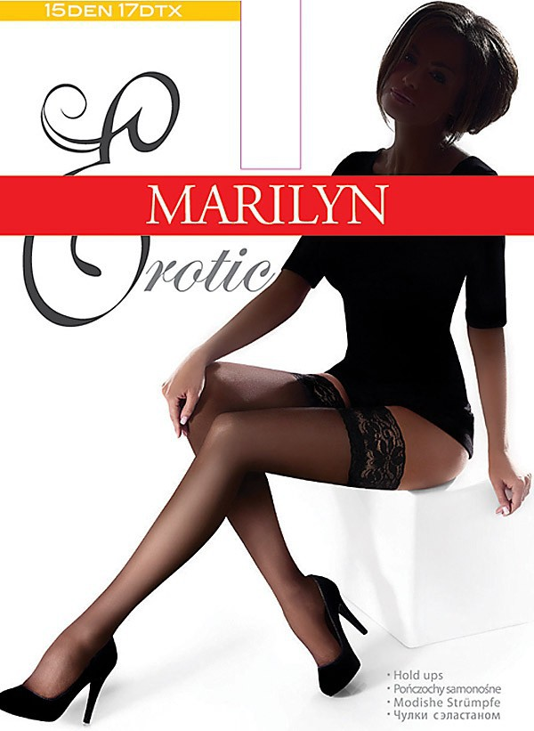 "Exclusive Hold-ups by Marilyn ""EROTIC"" -15 Denier - 10cm Deep Lace Top"