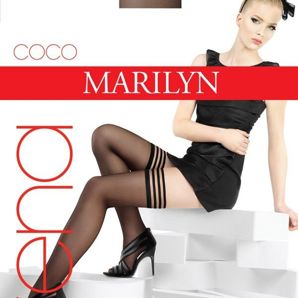 "Exclusive Hold-ups by Marilyn ""COCO VENA"" -15 Denier - 8cm Deep Lace Top"