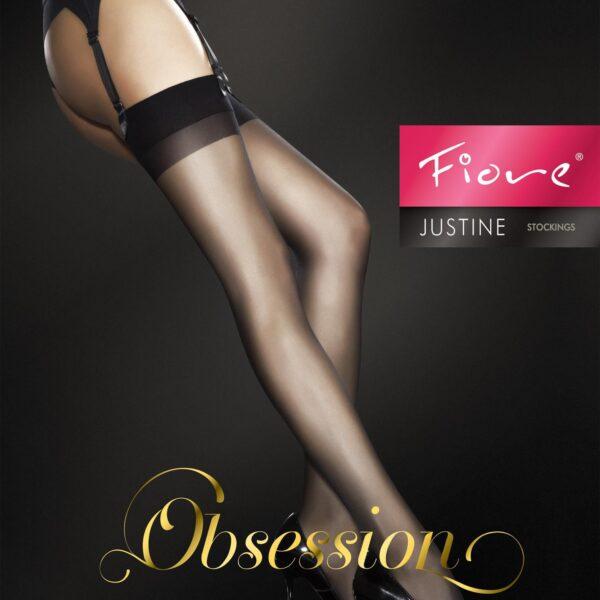 "Fiore Obsession Sheer ""JUSTINE"" Stockings 20 Denier Suspender Stockings"