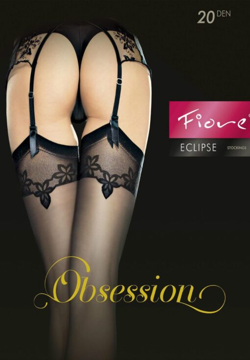 "Exclusive Stockings by Fiore ""ECLIPSE"",Designer Patterned 20 Denier"