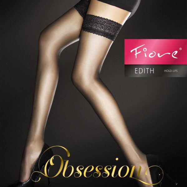 "Exclusive Hold-ups by Fiore ""EDITH"" -8 Denier - 8 cm Deep Lace Top"