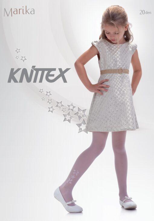 "Girls White Tights 20 Denier Ankle Star Pattern Bridesmaids Knittex ""MARIKA"""