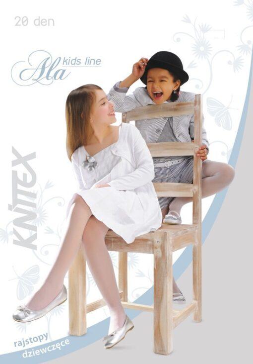"Girls Tights 20 Denier Soft Shine Bridesmaids Communion Age 6-12 Knittex -""ALA"""