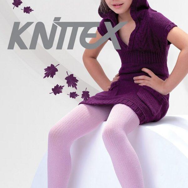 Girls Ribbed Tights 100 Denier Soft Warm Natural Fibres Age 2-11 Knittex -AGATKA