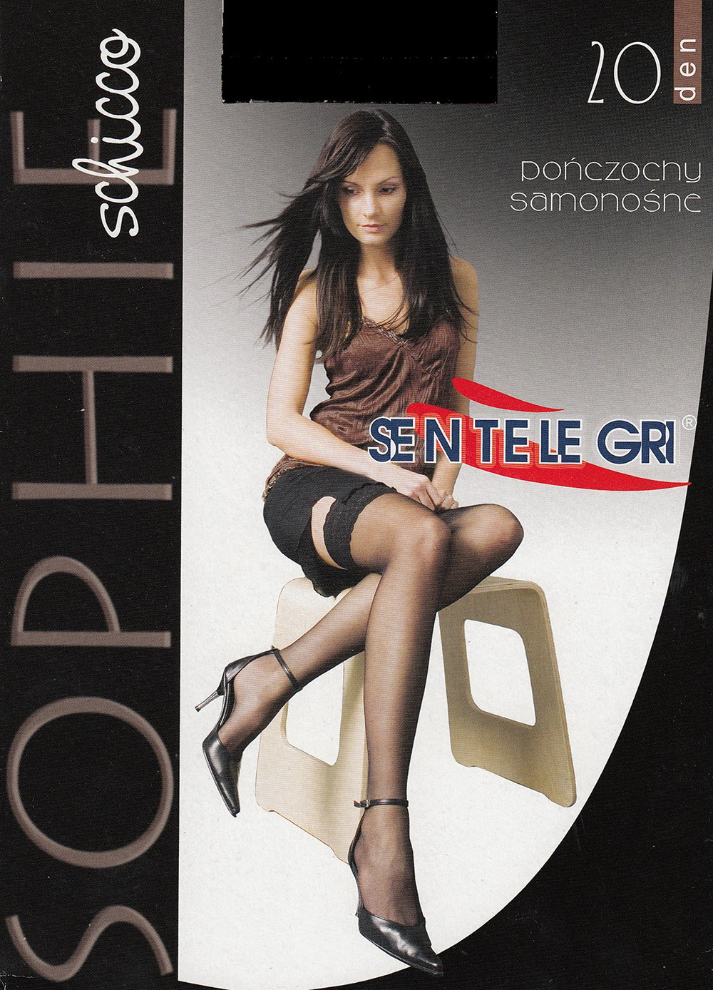 "Exclusive Hold-ups by Sentelegri ""SOPHIE"" -20 Denier – 9cm Deep Lace Top"