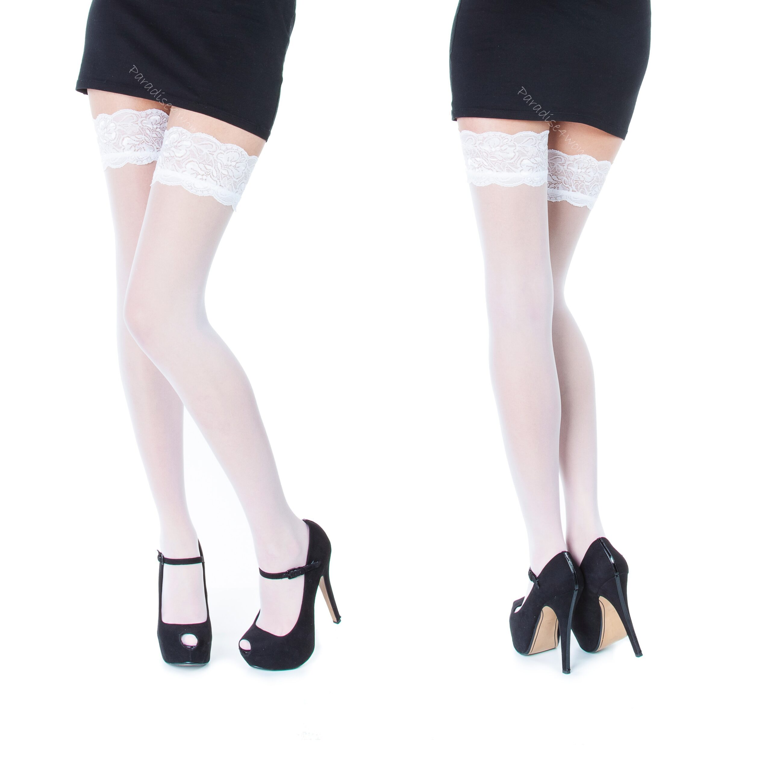 "Exclusive Hold-ups by Sentelegri ""SOPHIE"" -20 Denier - 9cm Deep Lace Top"