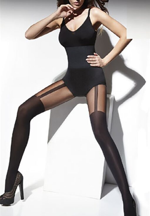 "Mock Suspender Stockings-Tights By Tess ""Lisa"" 40/20 Denier"