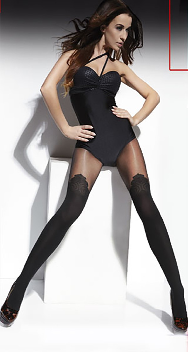 "MOCK SUSPENDER STOCKINGS-TIGHTS-TESS ""MARYA"" 40/20 DENIER -TOP QUALITY"