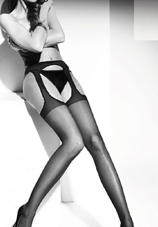 "MOCK SUSPENDER STOCKINGS-TIGHTS- 20 DENIER -""STRIP PANTY""-TOP QUALITY"