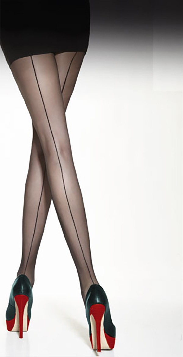 "Back Seamed Tights 20 Denier BY Tess "" VOGA"" ,Patterned Tights"