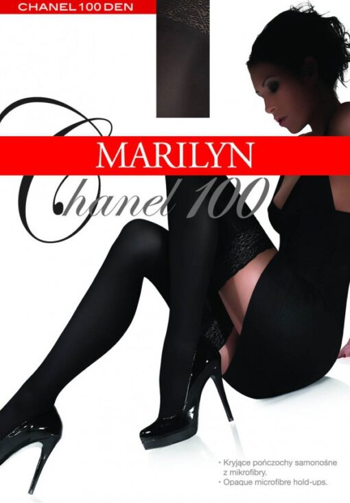 High Quality Opaque 3D Microfibre Hold Ups, 100 Den, Marilyn Chanel100
