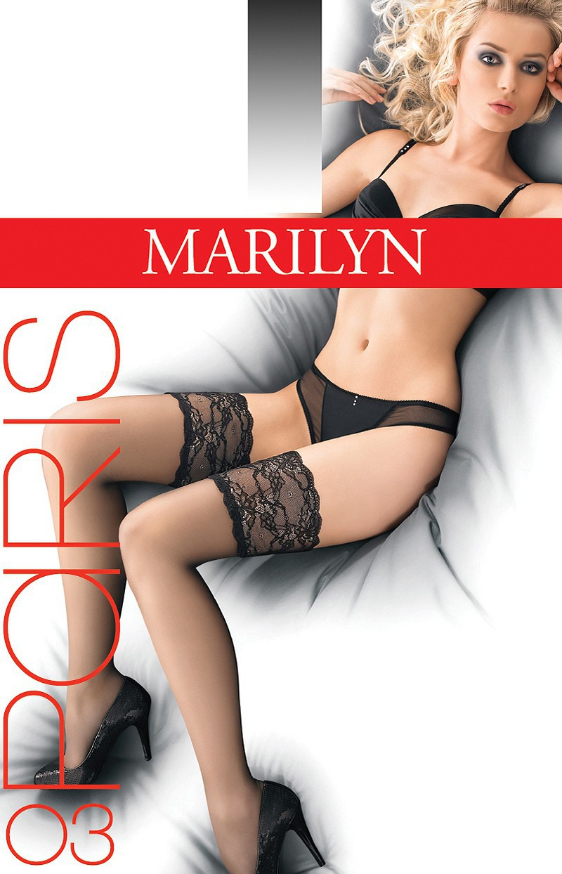 "Exclusive Hold-ups by Marilyn ""PARIS 03"" -20 Denier - 15cm Deep Lace Top"