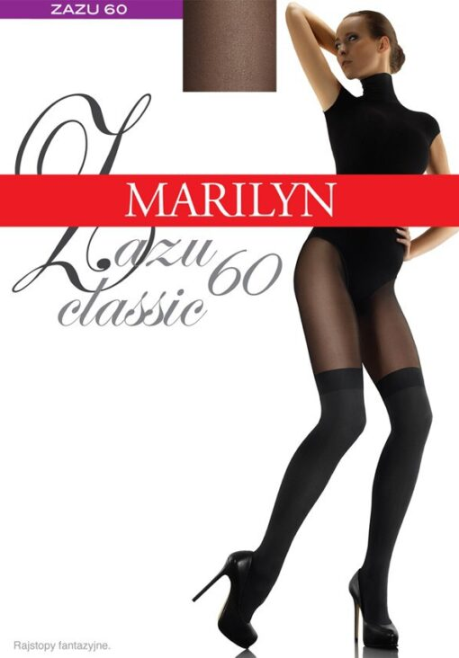 "MOCK SUSPENDER STOCKINGS-TIGHTS-MARILYN "" ZAZU CLASSIC"" 60/20 DENIER"