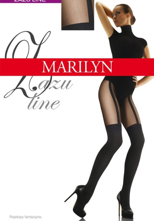 "MOCK SUSPENDER STOCKINGS-TIGHTS-MARILYN "" ZAZU LINE"" 60/20 DENIER"