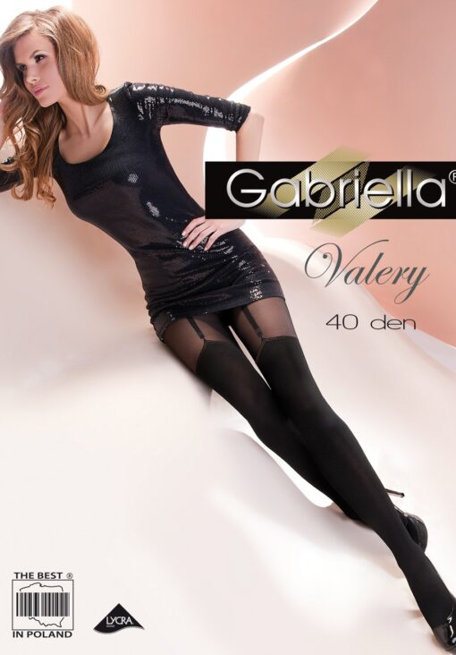 Valery Exclusive Fancy Patterned Tights With Fabulous Decorative Motif 40 Denier sizes 2S/3M/4L