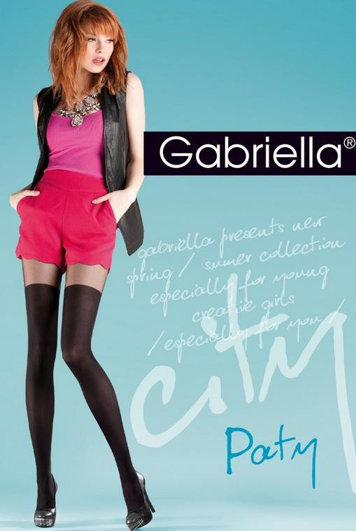 """Mock Suspender Tights By Gabriella """" Party"""" with Imitating Over Knee Sock -Size S, M, L"""