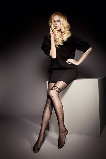 "MOCK SUSPENDER -TIGHTS-Veneziana ""SOPHIA""20 Denier- Imitating Hold Ups Style"