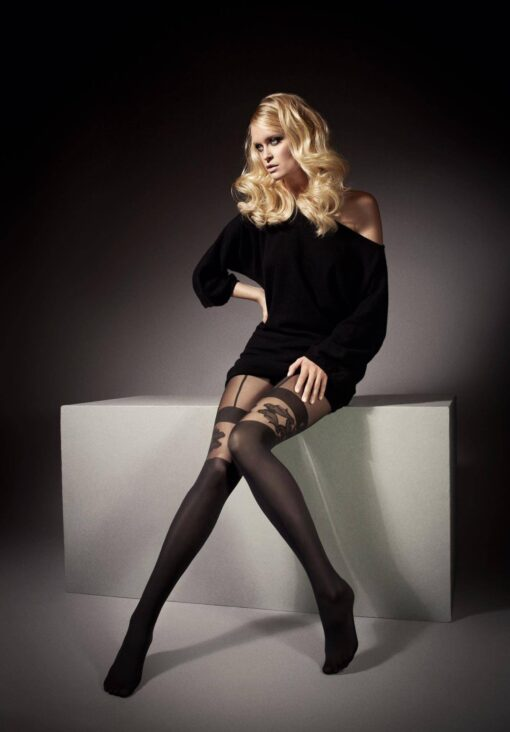 "MOCK SUSPENDER -TIGHTS-Veneziana ""MARICA""40/20 Denier- Imitating Hold Ups Style"