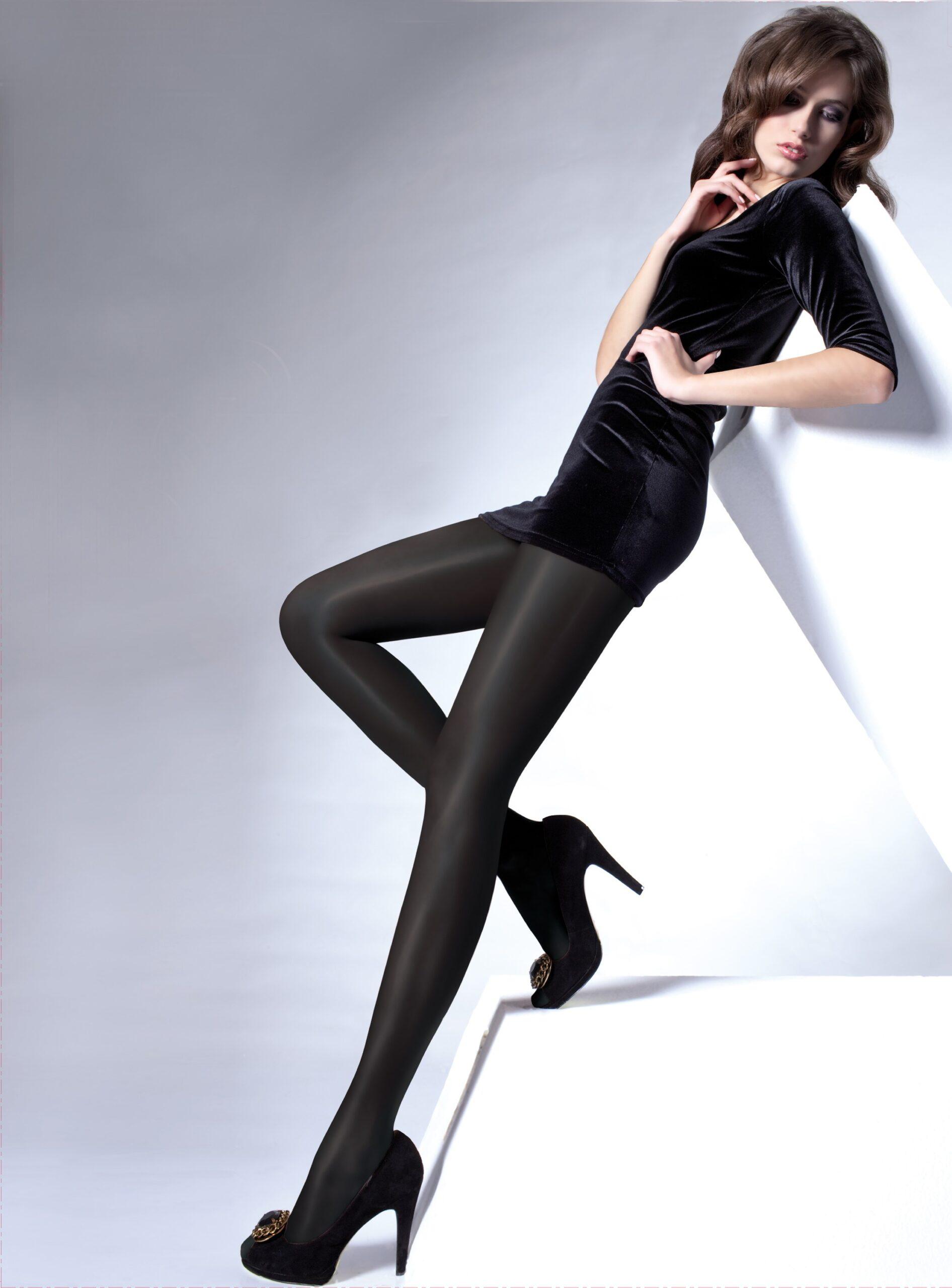 Women's Satin De Luxe Tights 100 Denier 3D, High Gloss, Shiny Opaque Tights By Knittex