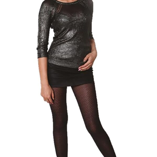 "Exclusive Patterned Tights 40 Denier Opaque, Microfibre By Sentelegri ""MILUNIA"""