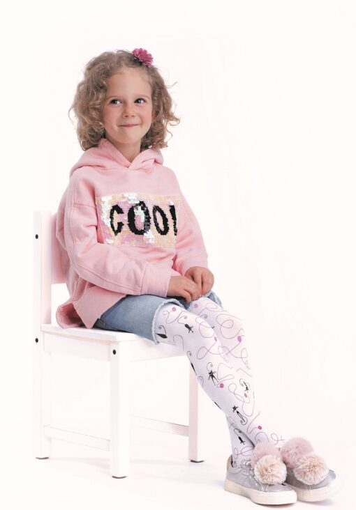 """Girls Tights By Knittex """"CATTO"""" 80 Denier Viscose ,Cat Pattern , Age 2-7"""