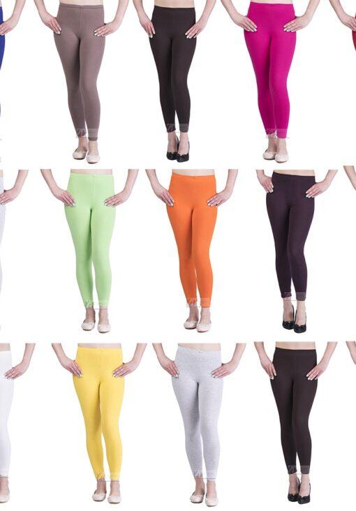Women's Full Length Cotton Leggings Soft, Plus Sizes