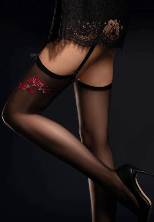 FIORE Piccante Luxury 20 Denier Super Fine Rose Stockings - PLUS Size Available