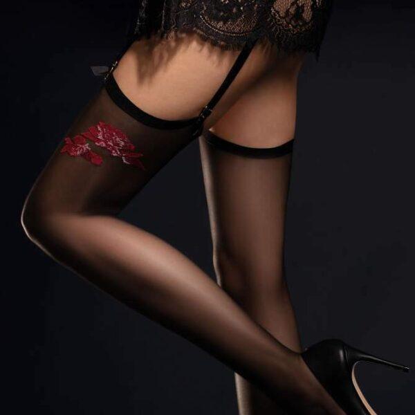 FIORE Piccante Luxury 20 Denier Super Fine Rose Stockings - PLUS Size Available