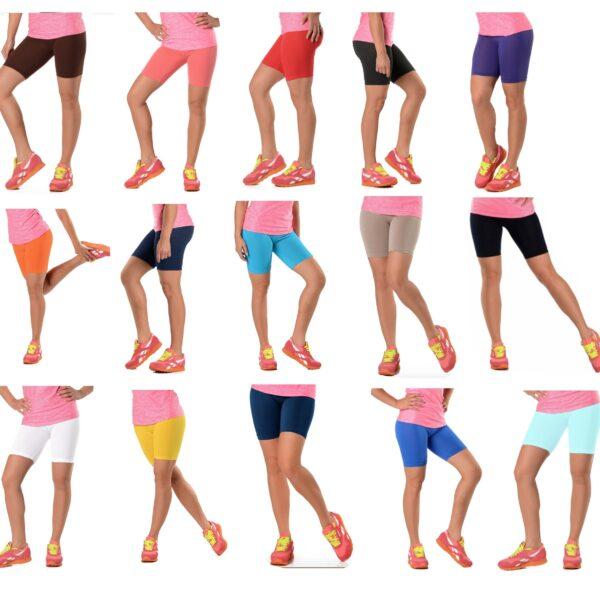 Cotton Leggings 1/2 half length shorts active sports gym cycling dance running